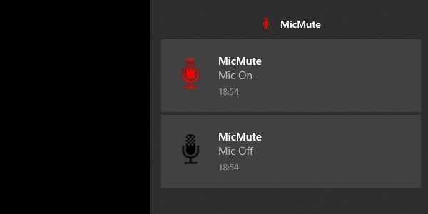 Mic On and Off