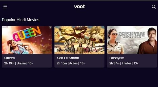 Voot - Watch Free Bollywood Movies Online