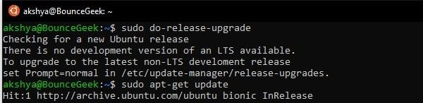 Check for new Ubuntu Release