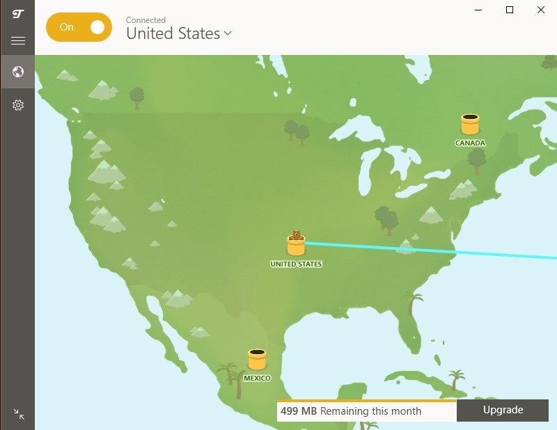 Connect to US Server - TunnelBear VPN