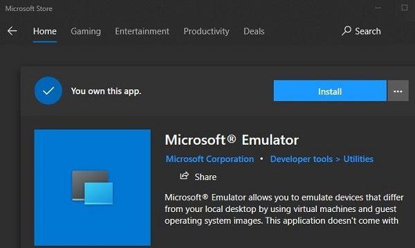 Microsoft Emulator - Install Windows 10X Emulator