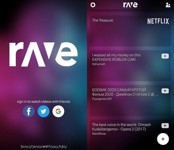 Rave App Login - Create Rave Party
