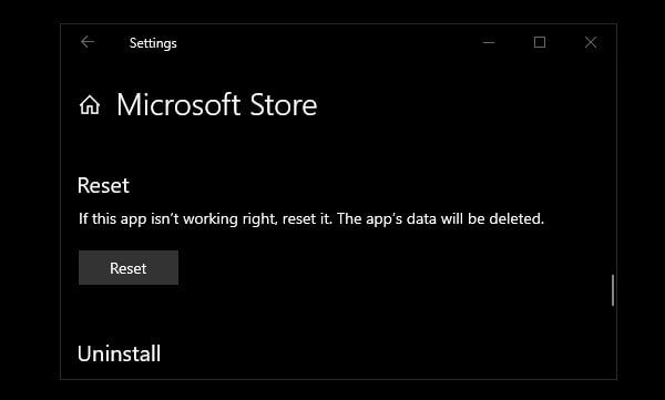 Reset Microsoft Store and Fix Slow Download