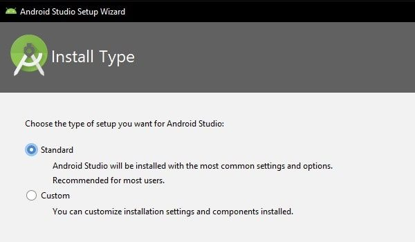 Standard Settings - Android Studio Setup Wizard