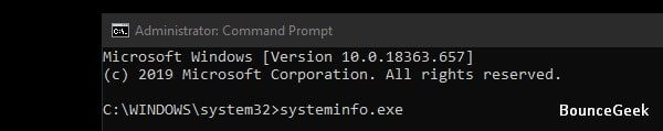 Systeminfo Command