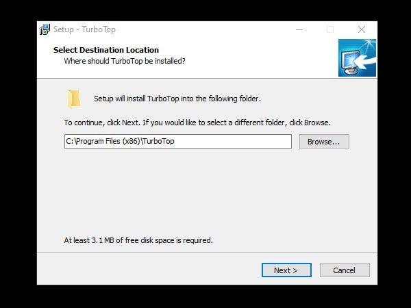 TurboTap program Installation