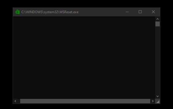 WSReset.exe - Fix Microsoft Store Slow Download