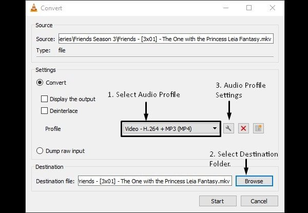 Audio Profile in VLC