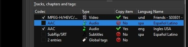 Disable Track and Subtitles