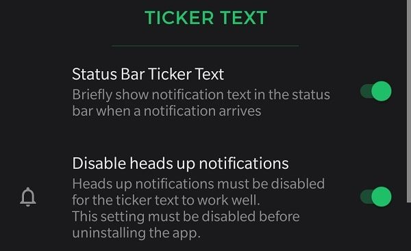DIsable heads up notifications