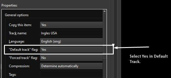 Make a track default