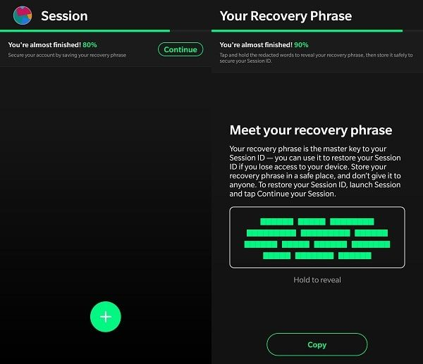 Session Recovery Phrase