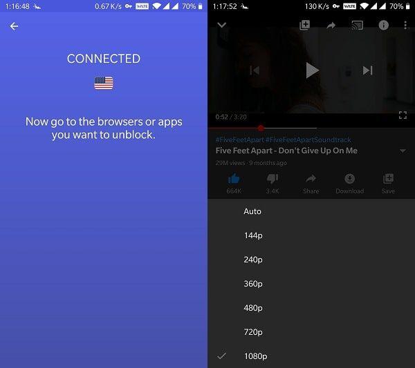 Use VPN App to Unlock YouTube Video Quality