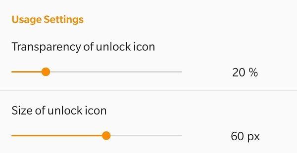 Customize Lock Icon
