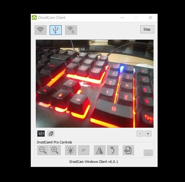 Droidcam Client - use Android Phone as a Webcam