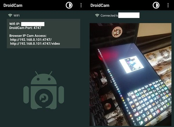 Droidcam - use Android Phone as a Webcam