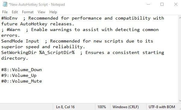Edit Script for Volume Control
