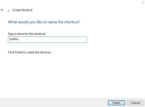 Enter Shortcut Name