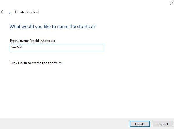 Enter Shortcut Name