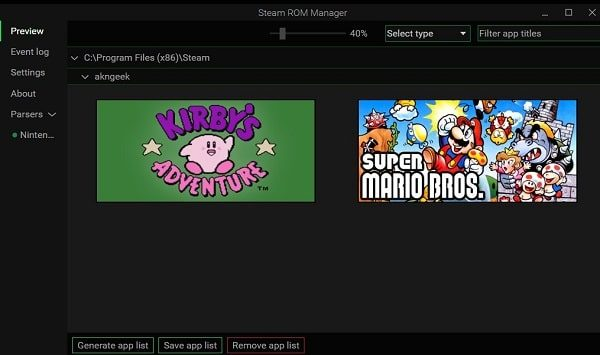 Generate App List - Play Retro Games with Steam