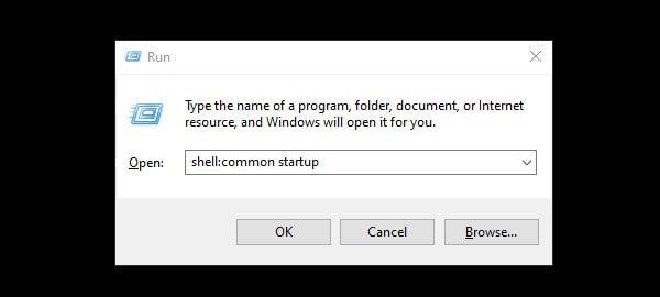 Open Startup Folder using shortcut