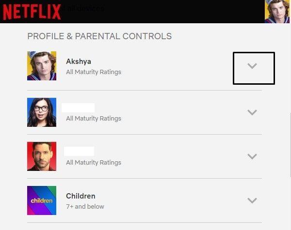 Profile & Parental Controls