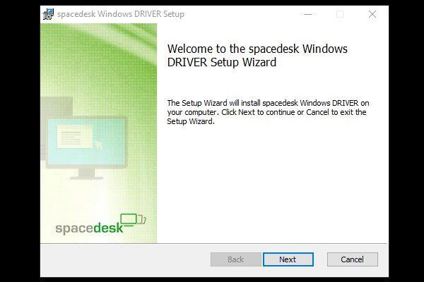 Spacedesk Software Installation.
