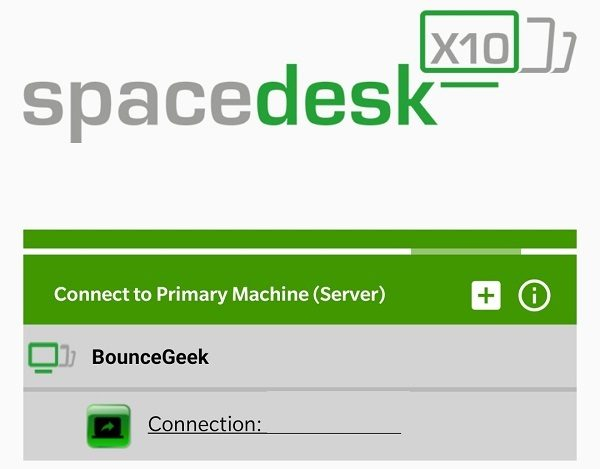 Spacedesk - Use Android as Second Monitor.
