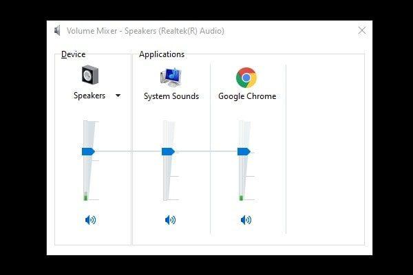 Volume Mixer to Adjust Volume