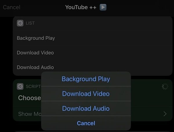 YouTube++ Siri Shortcut - Background Play