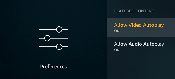 Auto Play Enabled in Fire TV Stick
