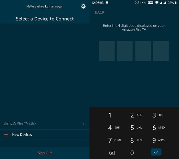 Connect Smartphone to Amazon Fire TV Stick
