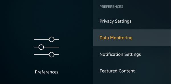 Data Monitoring - FireStick Settings