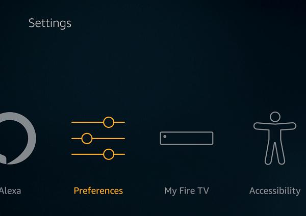Fire TV Stick Preferences Settings