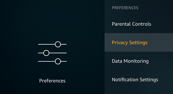Open Privacy Settings