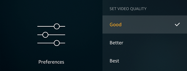 Select Good Quality to reduce data usage