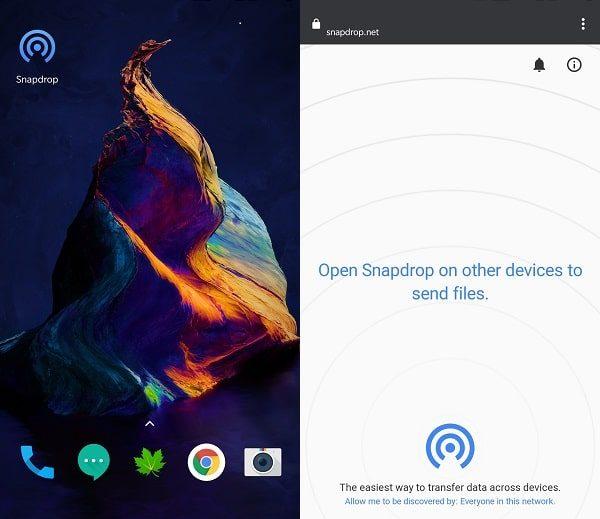 SnapDrop - Progressive Web App
