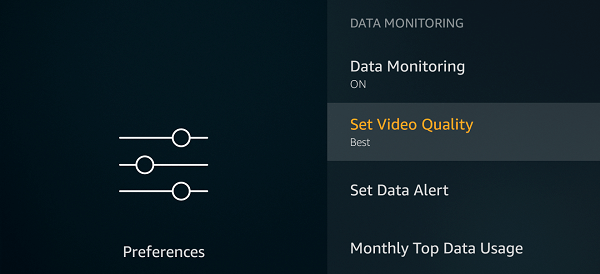 Video Quality Settings - Fire Stick