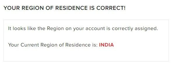 Current Region of Residence