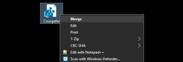 Merge File to Change the default system font