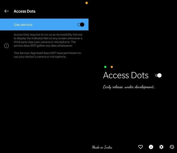 Access Dots Enabled