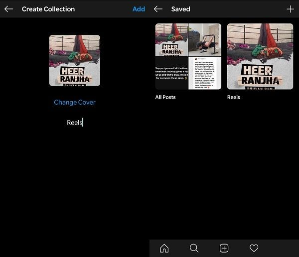 Create Reels Collection