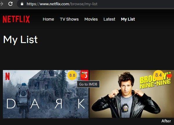 see IMDB Ratings in Netflix Website