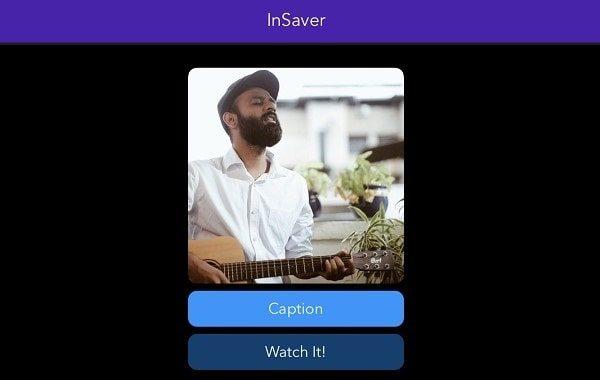 Watch It InSaver iPhone App - Download Instagram Reels