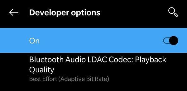 Bluetooth Audio LDAC Codec Playback Quality