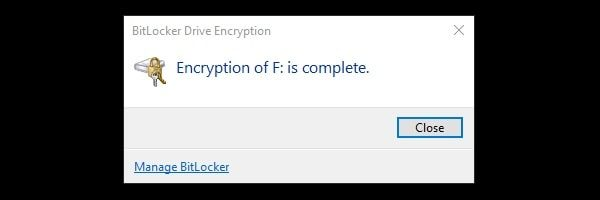 Encryption is Complete