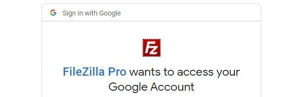 FileZilla Pro Google Access