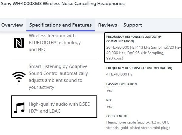 LDAC Supported Bluetooth Headphone