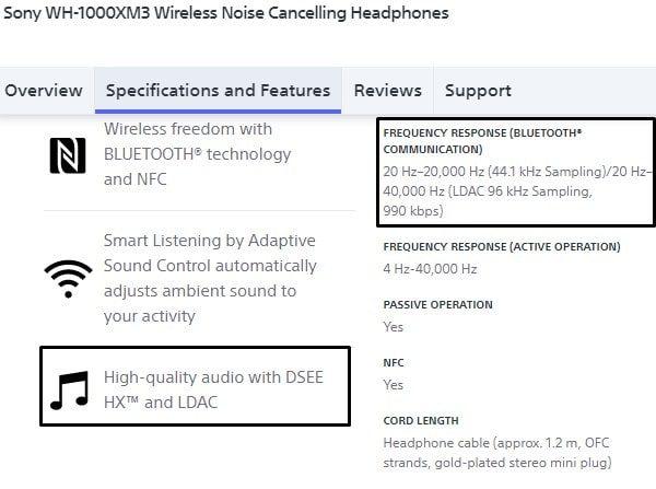 LDAC Supported Bluetooth Headphone