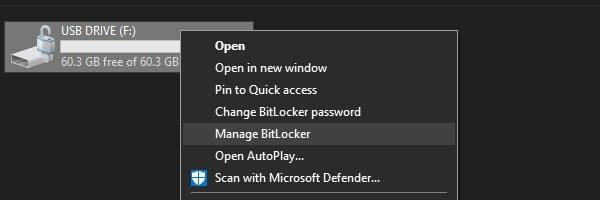 Manage BitLocker